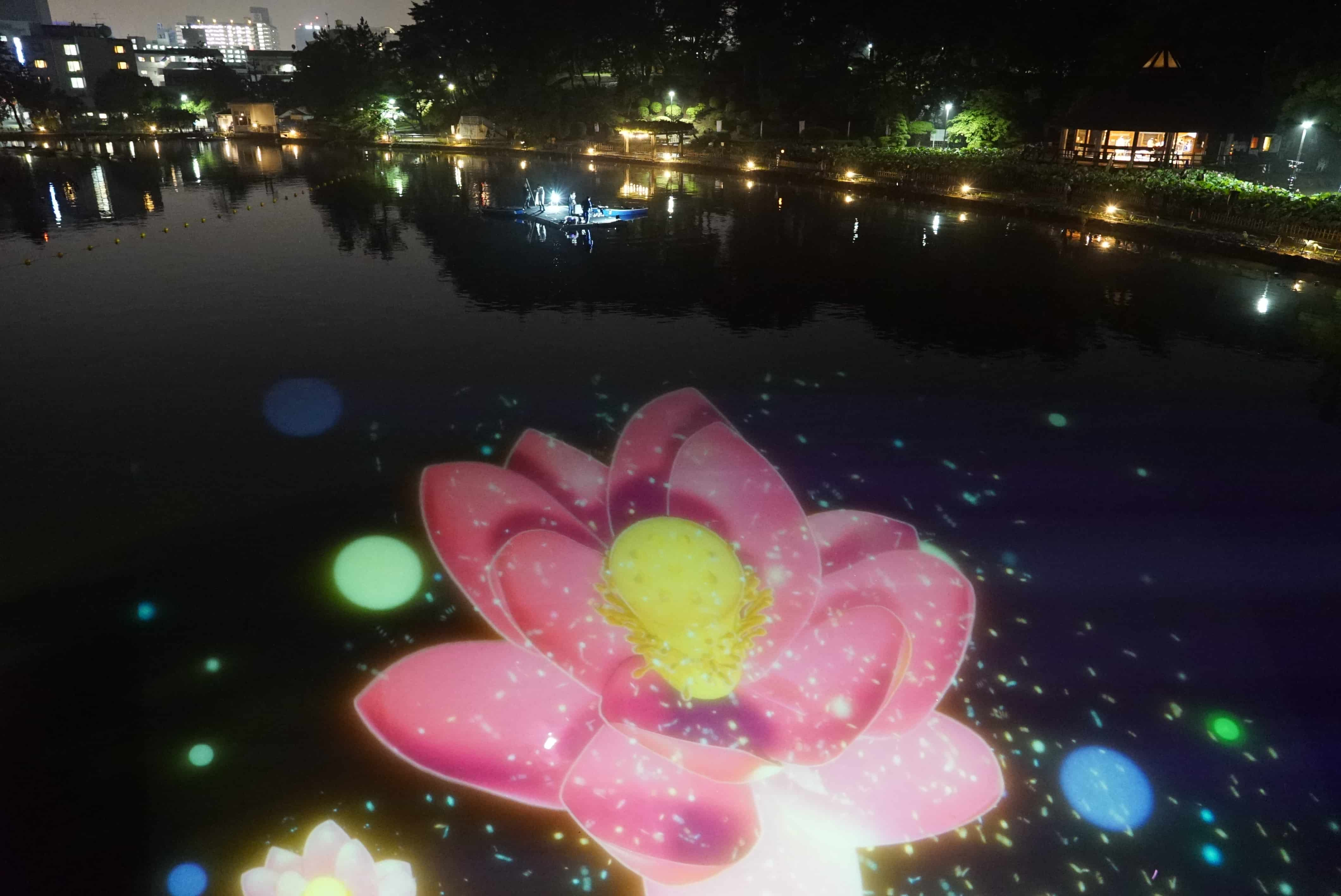 """""""YohaS 2019"""" at Chiba Park Projection mapping"""